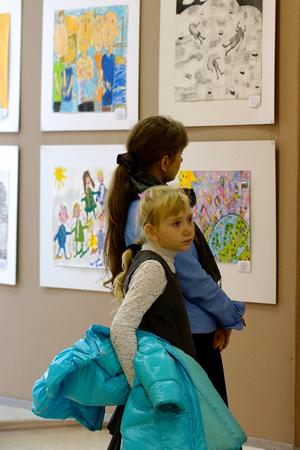 Beloretsk, Baschkortostan, Russland, September 2013. Der endg�ltige internationale Ausstellung von Kinder-Kunst-Kreativit�t.