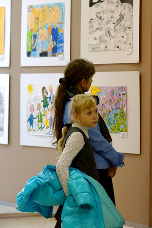 Beloretsk, Bashkortostan, Russia, September 2013. The final international exhibition of childrens art creativity. Editorial