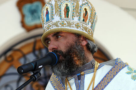 according to the scriptures: 5 July 2013 ,the city Krasnousolsk , Bashkortostan,Russia   The feast of the Tabynsk icon of the Mother of God - the main Shrine of the believers of the southern Urals and Orenburg regions, Bishop of Salavat and Kumertau NIKOLAY Editorial