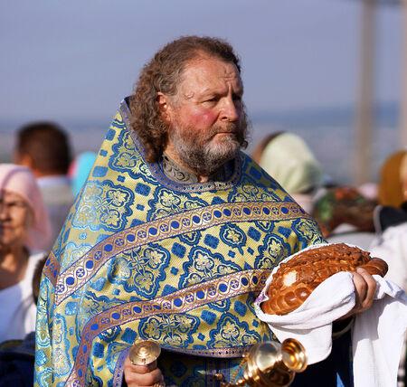 5. Juli 2013, die Stadt Krasnousolsk, Baschkortostan, Russland Das Fest der Tabynsk Ikone der Mutter Gottes - die wichtigsten Heiligtum der Gl�ubigen der s�dlichen Ural und Orenburg Regionen, religi�se Prozession