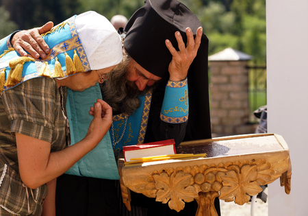 according to the scriptures: 5 July 2013 ,the city Krasnousolsk , Bashkortostan,Russia . The feast of the Tabynsk icon of the Mother of God - the main Shrine of the believers of the southern Urals and Orenburg regions, The mystery of confession.