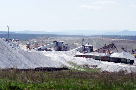 Production of crushed stone open pits.