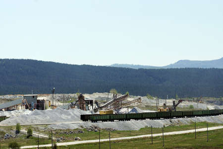 pits: Production of crushed stone open pits.