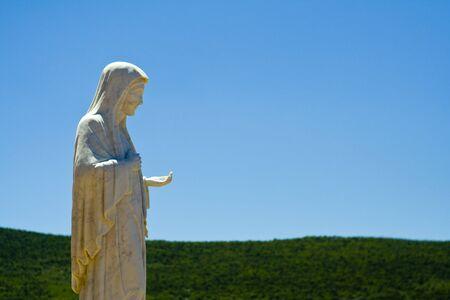 herzegovina: The statue of Mary in Medjugorie, Bosnia and Herzegovina