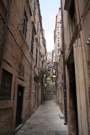 croatia: the long street in Dubrovnik, Croatia