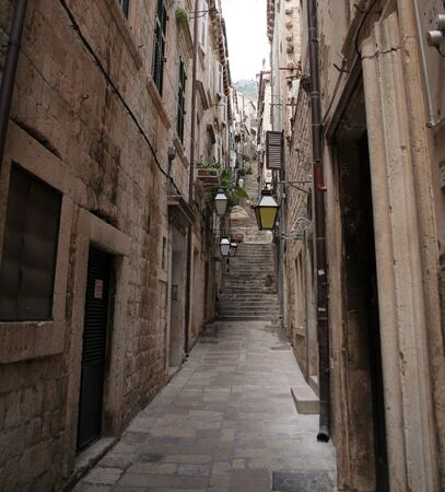 long street in Dubrovnik, Croatia photo