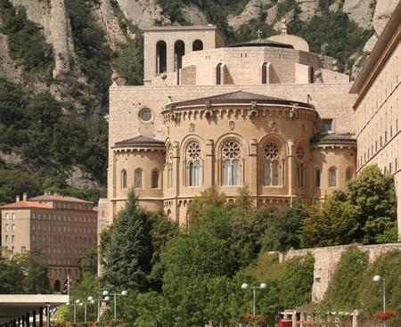 montserrat: Montserrat Monastery is a beautiful Benedictine Abbey high up in the mountains near Barcelona, Spain.