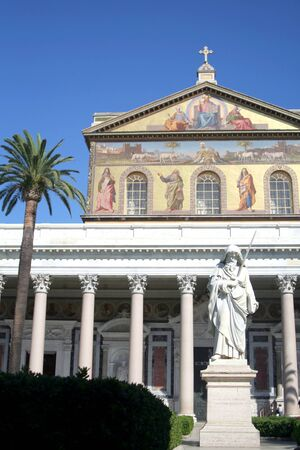 The basilic of St. Paul in Rome photo
