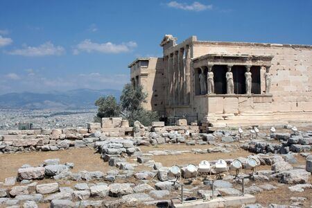 Caryatid Porch of Erechtheum at Acropolis, Athens, Greece photo