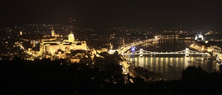 Budapest by night  Buda Castle and the Danube photo