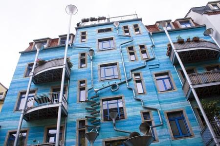 Dresden Neustadt shopping area  Artist rendered rain drainage system