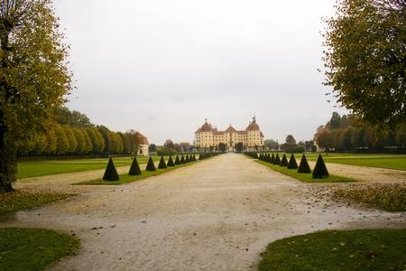 pictoresque: Landscape view of Moritzburg Castle in Saxony, Germany