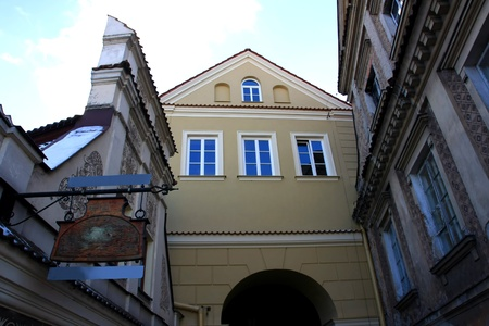 lublin: street in old town, Lublin, Poland Stock Photo