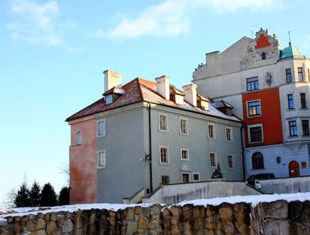 street in old town, Lublin, Poland photo