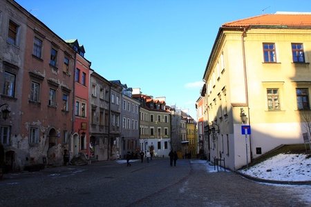 street in old town, Lublin, Poland Stock Photo - 13516193