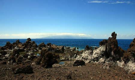 the landscape in Puerto Santiago, Los Gigantes, Tenerife, Spain