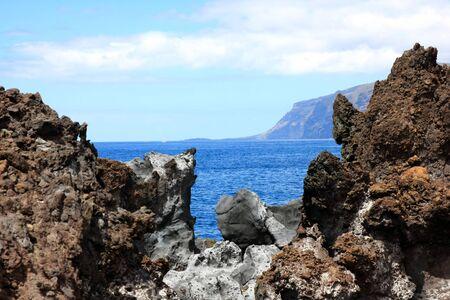 the landscape in Puerto Santiago, Los Gigantes, Tenerife, Spain Stock Photo - 13526529