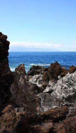 the landscape in Puerto Santiago, Los Gigantes, Tenerife, Spain Stock Photo - 13526492