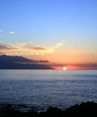 Sunset in Teneriffe and la gomera on second ground , Canary islands, Spain Stock Photo - 13526441