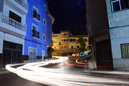 Puerto Santiago at night, Tenerife photo