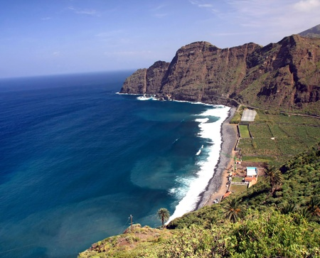an amazing landscape from La Gomera the one of the Canary Islands, Spain photo
