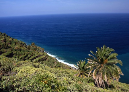 vallehermoso: an amazing landscape from La Gomera the one of the Canary Islands, Spain