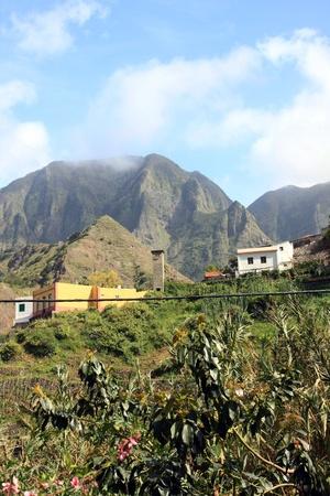 vallehermoso: the beauty landscape from la gomera in Canary Islands, Spain