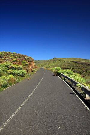 an amazing landscape with a road in the La Gomera, Canary islands, Spain