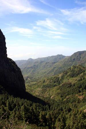 vallehermoso: an amazing landscape in La Gomera island, Canary islands, Spain Stock Photo