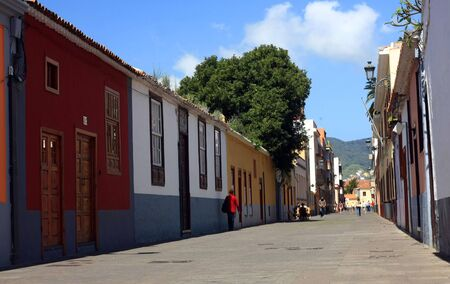 the beauty city La Laguna in Tenerife, Canary isnalds, Spain photo