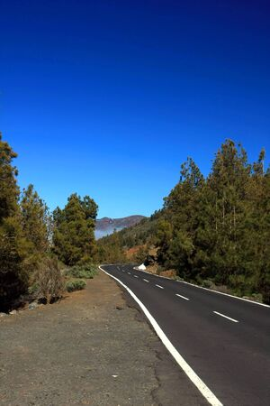 non marking: the empty sunny road in Tenerife , Canary island, Spain