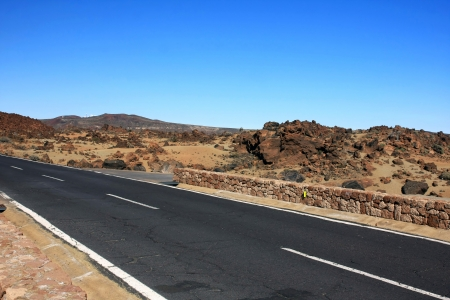 the amazing wild way to El Teide volcano, Tenerife, Canary islands