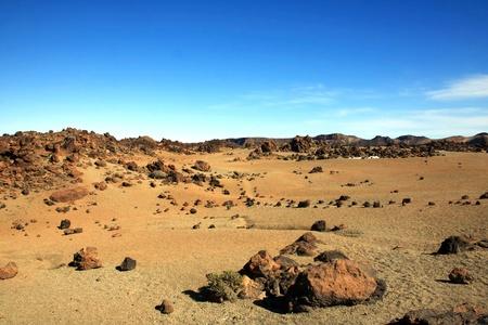 Amazing Island landscape - like on the desert  Tenerife, Spain