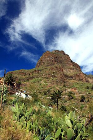 Village of Masca in the mountains of Tenerife island,Spain photo