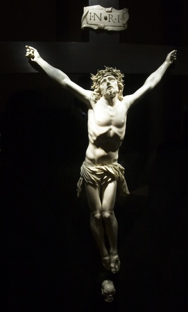 artistic jesus: Jesus Christ on the cross from Mallorca church