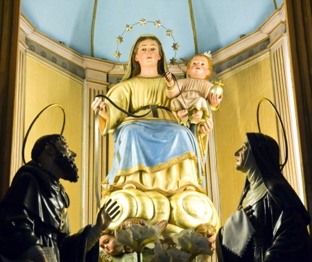 mallorca:  Virgin mary statue, mallorca
