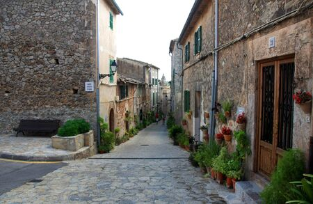traditional Valldemosa Majorca village streets from Balearic Spain photo