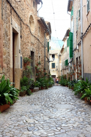 traditional Valldemosa Majorca village streets from Balearic Spain photo