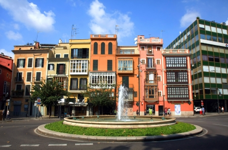 the main street in Las Palmas de Majorca,