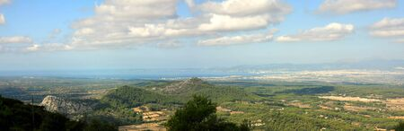 Majorca the view on the island from sanctuary de Cura, Spain photo