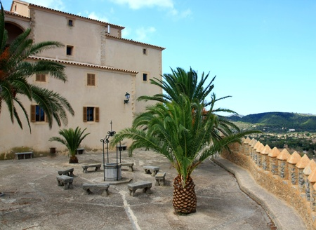 fortress on a hill in the town of Arta in Mallorca photo
