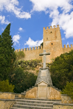 fortress on a hill in the town of Arta in Mallorca Stock Photo - 14426347