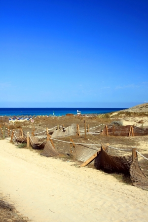 beach in Cala Mesquida from Balearic Mallorca island at Spain photo