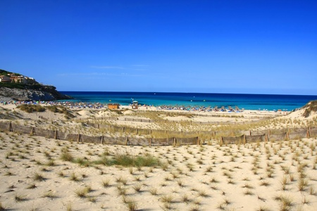 beach in Cala Mesquida from Balearic Mallorca island at Spain Stock Photo - 14426229