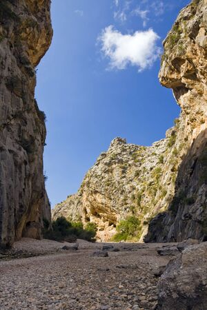 Majorca Island,  Pareis Sa Calabra  Canyon and coast Sa Calobra photo