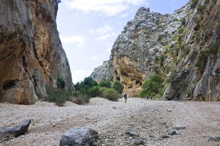 Majorca Island,  Pareis Sa Calabra  Canyon and coast Sa Calobra Stock Photo - 14425772