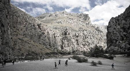 Majorca Island,  Pareis Sa Calabra  Canyon and coast Sa Calobra photo
