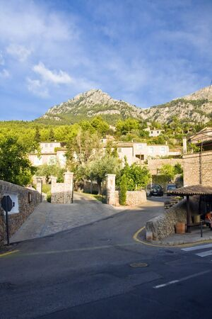 Deia the village of artists  typical stone village in Majorca Tramuntana mountain Balearic Spain photo