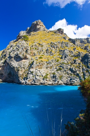 Majorca Island,  Pareis Sa Calabra  Canyon and coast Sa Calobra ,Spain photo