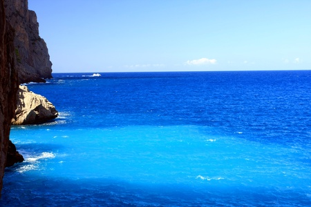 Majorca Island,  Pareis Sa Calabra  Canyon and coast Sa Calobra ,Spain photo